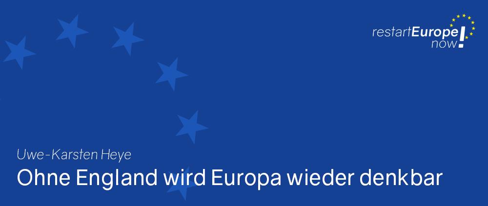 Nach dem Brexit: Uwe-Karsten Heye