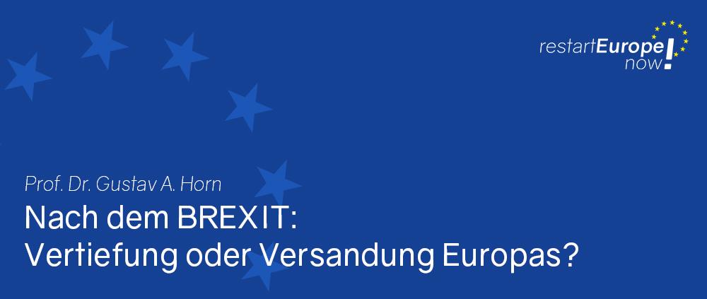 Nach dem Brexit: Gustav A. Horn